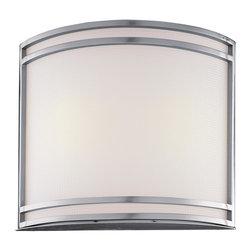 Minka Lavery - Minka Lavery 368-PL Brushed Nickel 2 Light Wall Sconce - Etched Glass Shade
