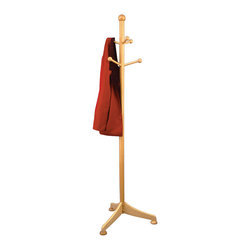 Winsome Wood - Winsome Wood Coat Tree w/ 6 Pegs in Beech - Simple yet nice design coat rack offer your guests a place to hang their hat. Features 6 pegs for holding coats, scarves, hats and more. Coat Tree (1)