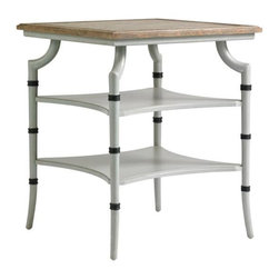 Stanley Furniture - Preserve-Saybrook Lamp Table - Light and airy, the Saybrook Lamp Table in subdued, hand-crafted finishes is delicate and reserved.