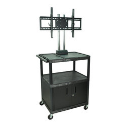Luxor - H Wilson Flat Panel Cart - WPTV44C2E - H Wilson's WPTV44C2E The Exclusive counter-weight system provides superior stability and ensures safe movement of your TV.
