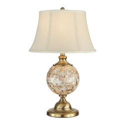 Dale Tiffany - New Dale Table Lamp Brass Mosaic Shell - Product Details