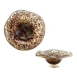 Small Leopard Art Glass Bowl - Small Leopard Art Glass Bowl