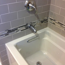 Transitional Bathroom by Best Plumbing Tile & Stone