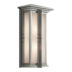 Kichler - Kichler Portman Square Outdoor Wall Mount Light Fixture in Steel - Shown in picture: Kichler Outdoor Lantern 2Lt in Stainless Steel
