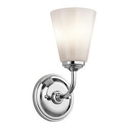 Kichler Lighting - Kichler Lighting 45517CH Ashbrook Chrome Wall Sconce - 1 Bulb, Bulb Type: 100 Watt Medium; Weight: 2.80lbs