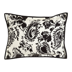 Ralph Lauren Home - King Paisley Sham with Flange - BLACK/ OFFWHITE (20X36) - Ralph Lauren HomeKing Paisley Sham with FlangeDesigner Please note: items that are part of the Ralph Lauren Home Collection are not available at any discount and will be removed from our site during sale events.About Ralph Lauren Home:The first designer to create an all encompassing collection for the home Ralph Lauren Home debuted in 1983 and provides a comprehensive lifestyle experience featuring complete luxurious worlds. Whether inspired by timeless tradition or reflecting the utmost in modern sophistication each of the collections is distinguished by the enduring style and expert craftsmanship of Ralph Lauren. With creative vision and impeccable design Ralph Lauren Home offers both transporting seasonal collections and enduring classics. Inspiration is drawn from English country estates the natural tones and textures of the desert or the spirit of adventure embodied in Safari the romance of seaside living the faded florals and classic ticking stripes of American country or the sleek urban aesthetic of a city loft. The line includes bed and bath linens china crystal silver decorative accents and gifts as well as lighting and furniture.