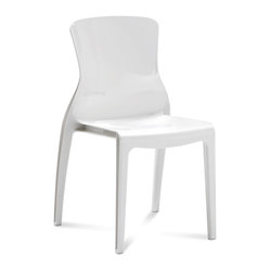 Crystal Stackable Dining Chair, White
