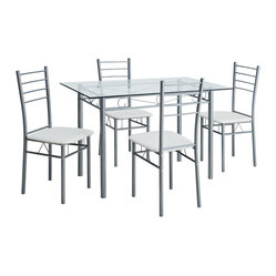 Urban Glass Table and Four Chair Dining Set
