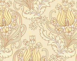 Graham and Brown - Amy Butler Wallpaper - Temple Tulips - Field - Temple Tulips has a modern Rococo feel that flows in a striking fashion as it creates a beautiful, soft organic pattern.