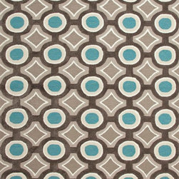 Jaipur Rugs - Hand-Tufted Geometric Pattern Polyester Gray/Blue Area Rug - A youthful spirit enlivens Esprit, a collection of contemporary rugs with joie de vivre! Punctuated by bold color and large-scale designs, this playful range packs a powerful design punch at a reasonable price.  Origin: China