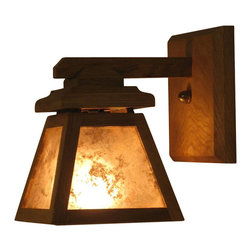 Custom Furniture & Fabrication - ADK Adirondack Craftsman Lighting Wall Sconce - Designed to capture the simple elegance of rustic Adirondack craftsmen.