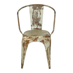 Miller Metal Chair, Sea Green - *Finish: Painted