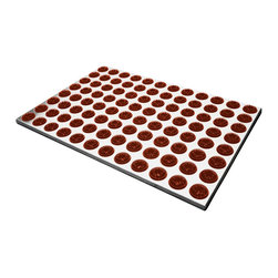 Radius Design - Feet-Back I Door Mat, Terracotta - With 96 cleaning brushes the Feet-Back I Doormat is a truly efficient sole cleaner suitable for indoor and outdoor use. Moreover, the base is made of high-quality stainless steel, which lends the mat an attractive appearance.