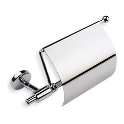 StilHaus - Chrome Toilet Roll Holder with Cover - Toilet roll holder with cover in chrome finish.