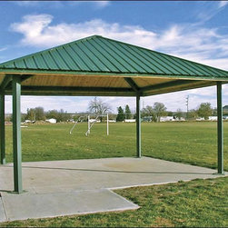 Fifthroom - 20' x 20' Steel Frame Square Forestview Pavilion -