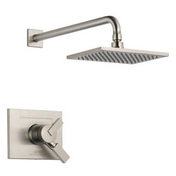 Delta - Vero Monitor 17 Series Shower Trim - Delta T17253-SS Vero Monitor 17 Series Shower Trim with Volume Control and Single Function Showerhead in Stainless.