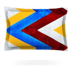 """Kess InHouse - Brittany Guarino """"Zig Zag"""" Pillow Sham (Cotton, 30"""" x 20"""") - Pairing your already chic duvet cover with playful pillow shams is the perfect way to tie your bedroom together. There are endless possibilities to feed your artistic palette with these imaginative pillow shams. It will looks so elegant you won't want ruin the masterpiece you have created when you go to bed. Not only are these pillow shams nice to look at they are also made from a high quality cotton blend. They are so soft that they will elevate your sleep up to level that is beyond Cloud 9. We always print our goods with the highest quality printing process in order to maintain the integrity of the art that you are adeptly displaying. This means that you won't have to worry about your art fading or your sham loosing it's freshness."""