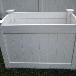 OUTDOOR GARBAGE CAN STORAGE BINS - 2' x 4' x 36' Outdoor Garbage Bin No Lid