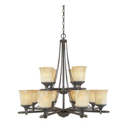 Designers Fountain - Designers Fountain 973812 Twelve Light Up Lighting Two Tier Chandelier from the - Features:
