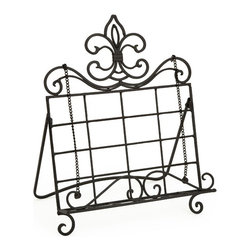 IMAX CORPORATION - Counterflory Recipe Book Holder - With a metal fleur-de-lis decorating the top, this book easel is perfectly designed to sit comfortably on your kitchen counter. Classic, simple and functional, it is a must have for the conscientious chef. Find home furnishings, decor, and accessories from Posh Urban Furnishings. Beautiful, stylish furniture and decor that will brighten your home instantly. Shop modern, traditional, vintage, and world designs.