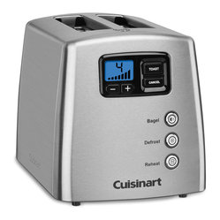 Cuisinart - Cuisinart Touch-to-Toast Leverless 2-Slice Toaster - Stainless steel housing with motorized lift