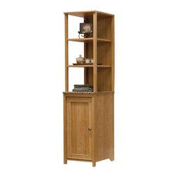 Sauder - Sauder Sundial Linen Tower in Highland Oak - Sauder - Bathroom Cabinets - 414035 -