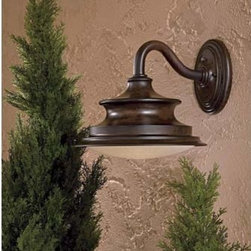 Minka-Lavery - Vanira Place Large Energy Star Outdoor Wall Mount - -One Light Outdoor Wall Mount with Double French Scavo Twist and Lock Glass  -Bulb Included  -Energy Star  -California Title 24 Compliant Minka-Lavery - 8122-A188-PL