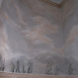 Trompe L'oeil Rooms & Accents - Main Powder Room, French Countryside Trompe L'oeil
