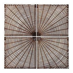 """IMAX CORPORATION - Burst Wall Decor - Set of 4 - Natural-look four piece coordinating wall decor creates square when pieced together. Set of 4 in various sizes measuring around 19.5""""L x 9.5""""W x 19.5""""H each. Shop home furnishings, decor, and accessories from Posh Urban Furnishings. Beautiful, stylish furniture and decor that will brighten your home instantly. Shop modern, traditional, vintage, and world designs."""