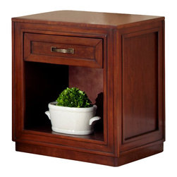 Home Styles - Home Styles Duet Storage Night Stand in Cherry Finish - Home Styles - Nightstands - 554542 -Create distinctive style with this modern storage Night Stand. The Duet Storage Night Stand by Home Styles is perfect for a night stand or accent table.