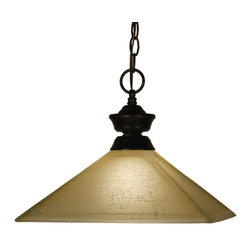 Z-Lite - Z-Lite Pendant Light X-31LGM-ZRB107001 - Bold styling defines this Pendant Light. Finished in bronze, this fixture uses a mission gold linen shade to create a modern look. This fixture includes 36'' of chain to ensure a perfect hanging height.