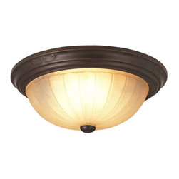 Trans Globe Lighting - Trans Globe Lighting 21052 ROB Flushmount In Rubbed Oil Bronze - Part Number: 21052 ROB