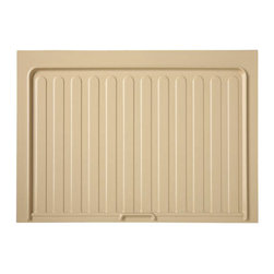 """Rev-A-Shelf - Rev-A-Shelf SBDT-3336-A-1 Almond Under Sink Drip Tray for 36"""" Sink Base Cabinet - Gone are the days of worrying about water damage in your base cabinet from minor leaks under your sink. Now you can protect your cabinet with the Almond Under Sink Drip Tray. Drip or no drip, leak or no leak, this tray funnels any excess water to the front of your cabinet and out onto the floor alerting you of the leak and allowing for an easy clean up. The Rev-A-Shelf SBDT-3336-A-1 tray is made of a rigid polystyrene, and is resistant to most household chemicals. Designed for installation in NEW 36"""" sink base cabinet construction, it can be trimmed or cut to fit a 33"""" sink base cabinet. Recommended for installation in New Cabinetry. Physical specifications: 34-1/2"""" W x 23-1/4"""" D x 11/16"""" H. Please note: Due to its ridged design, this product may be difficult to install properly in existing cabinets or after sink and countertop have already been installed."""