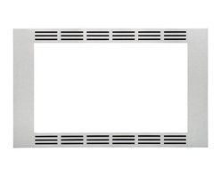 "Panasonic - Trim Kit - 27"" - Panasonic's NN-TK722SS 27 In. Wide Trim Kit, in stainless steel, is designed for select Panasonic 1.6 cu. ft. microwave ovens. This built-in trim kit allows you to neatly and securely position select Panasonic microwave ovens into a cabinet or wall space in your kitchen. Kit includes all the necessary assembly pieces and hardware to give your Panasonic microwave oven a custom-finished look.27-inch wide trim kit for select Panasonic microwave ovens