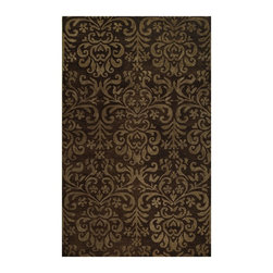 """Capel - Transitional Lace Hallway Runner 2'6""""x8' Runner Brown Area Rug - The Lace area rug Collection offers an affordable assortment of Transitional stylings. Lace features a blend of natural Brown color. Hand Tufted of 100% Wool the Lace Collection is an intriguing compliment to any decor."""