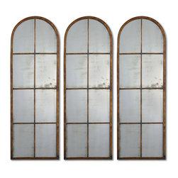 Uttermost - Uttermost 13463 P Amiel Arched Brown Mirror - Uttermost 13463 P Amiel Arched Brown Mirror