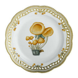 Royal Copenhagen - Royal Copenhagen Flora Danica Fungi Perforated Plate - Royal Copenhagen Flora Danica Fungi Perforated Plate