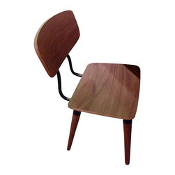 Nuevo Living - Ito Dining Chair, Walnut Veneer with Black Base, Set of 2 - For every meal to be truly savored in style, you want dining seating that looks and feels great. This chair is the epitome of sleek design and is contoured for total comfort.