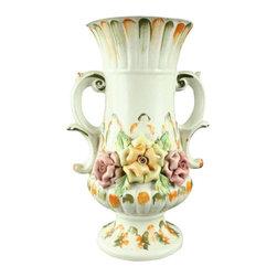 Bassano - 1950 Consigned Vintage Capodimonte Bassano Vase - Product Details