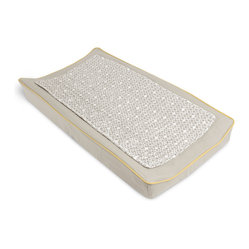 Oilo - Changing Pad Cover & Topper, Stone & Citron - A clean and covered changing pad is an everyday baby essential. You can't go wrong with one that also includes a removable quilted pad. This is perfect for easy cleaning without having to remove the entire cover — music to any mothe
