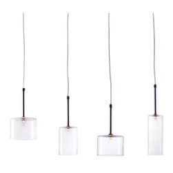 Zuo Modern Contemporary, Inc. - Rain Ceiling Lamp Clear - Calling to mind a window to a stormy day, the Rain Ceiling Lamp is a sheet of clear drops. Different shapes and sizes lend a unique symmetry. Made of glass and chrome with four 10 watt bulbs.