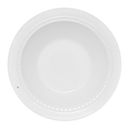 """Nora Fleming - Nora Fleming Pearl Rim Pasta Bowl - Nora Fleming Pearl Rim Pasta Bowl you asked for it back!  Here it is...a deep bowl to hold a salad, fruit, or even popcorn! 14"""" d x 4.5"""" deep. Can be customized with Nora Fleming minis (sold separately)."""