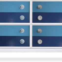 White Claude Special Edition 8 Drawer Set - If you are looking to add a BIG dose of blue to your space, check out Jonathan Adler's Claude dresser. It would be the center of attention in any room, and in this instance that is a very good thing!