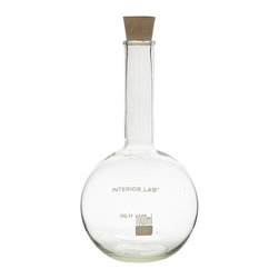 Seletti - Selab Round Chemical Vase - These chemistry curios are available in two designs and are suitable for repurposing as flower vases or wine decanters.