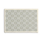Beige Woven Square Lattice Custom Placemat Set - Class up your table's act with a set of Tailored Placemats finished with a contemporary contrast border. So pretty you'll want to leave them out well beyond dinner time! We love it in this interlocking square trellis woven in beige & white with a hint of sheen. equal parts plush & posh.