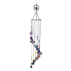 Great World - 33 Inch Multicolored Butterfly Etched Musical Wind Chime Mobile - This gorgeous 33 Inch Multicolored Butterfly Etched Musical Wind Chime Mobile has the finest details and highest quality you will find anywhere! 33 Inch Multicolored Butterfly Etched Musical Wind Chime Mobile is truly remarkable.
