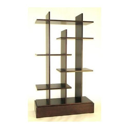Wayborn - Hason Display Unit - 5 Shelves. Hand crafted. Made from Basswood. Smooth finish. Assembly required. 37 in. W x 14.5 in. D x 63 in. H (121 lbs.)This Display Unit is the perfect piece for family rooms, living rooms, or bedrooms. This 5-shelf piece has many different areas for displaying pictures, trinkets, and memorabilia. This beautiful wooden shelf is hand crafted and sure to add that little bit of flair to tie your space together.