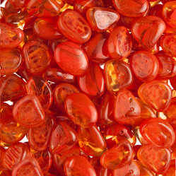 Sunset Orange Fireglass Media