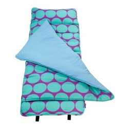 Wildkin Ashley Collection Big Dots Aqua Nap Mat - The Wildkin Ashley Collection Big Dots Aqua Nap Mat has been rigorously tested to ensure that all parts are lead-free, bpa-free, phthalate-free, and conform to all rules and regulations set forth by the Consumer Products Safety Information Act. This product is naturally flame-resistant and is not treated with chemicals. Conforms to the U.S. flammability test requirements for sleeping bags as set forth in CPAI-75.About WildkinUnpacking the world of children's luggage, Wildkin offers a wide collection of outrageously fun and fantastically practical bags, backpacks, mats, sleeping bags, and more. Each Wildkin piece is available in over 30 unique patterns so parents can be sure to match individual tastes with personalized designs. As safe as they are dynamic, all Wildkin products are crafted with durable, kid-safe materials and tested to ensure the highest quality.