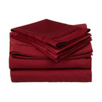 650 TC Egyptian Cotton Standard Burgundy Oversized Solid Pillowcase Set - 650 Thread Count Egyptian Cotton Standard Burgundy oversized Solid Pillowcase Set